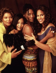 LIVING SINGLE, Queen Latifah, Kim Fields, Erika Alexander, Kim Coles